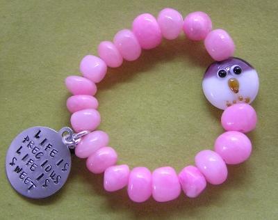 Beaded Owl Stretch Bracelet