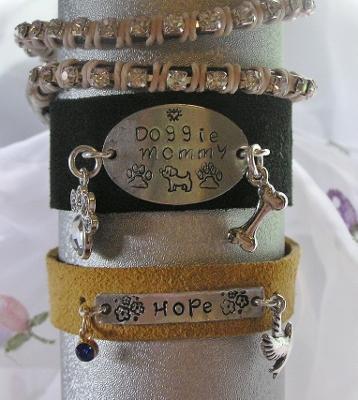 Metal Stamped Suede Bracelets