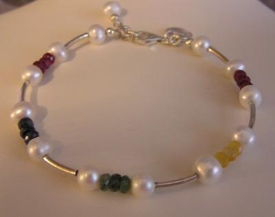 Famous Gems Bracelet in Sterling Silver