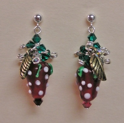 Strawberry Bead Earrings