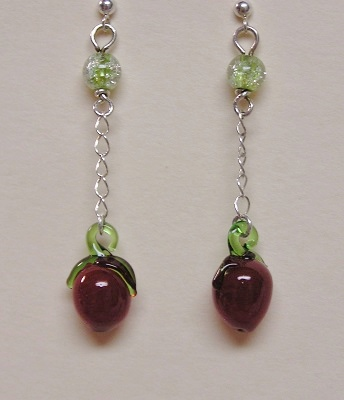 Glass Chlili Pepper Earrings