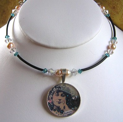 Sterling Silver Altered Art Necklace