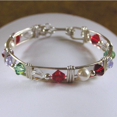 Wire Wrapped Birthstone Bracelet