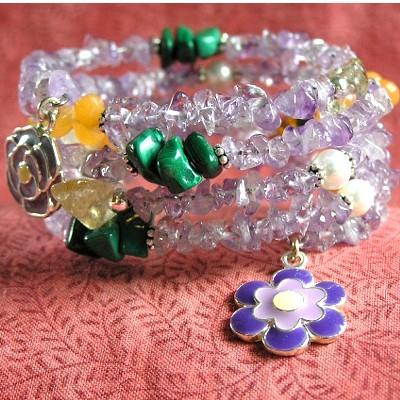 Multi-Strand Gemstone Bracelet