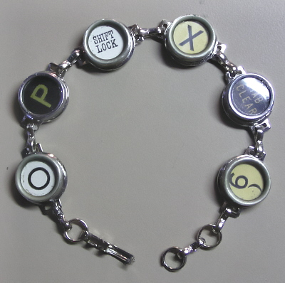 Antique Typewriter Key Bracelet