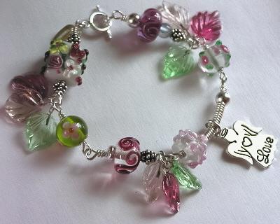 A Garden of Lampwork BeadsLampwork Bead Bracelet