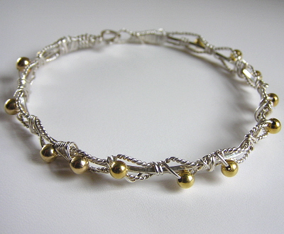 Gold and Sterling Bracelet