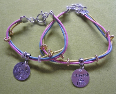 Metal Stamped Leather Bracelets