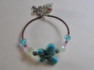 Turquoise Butterfly Bracelet