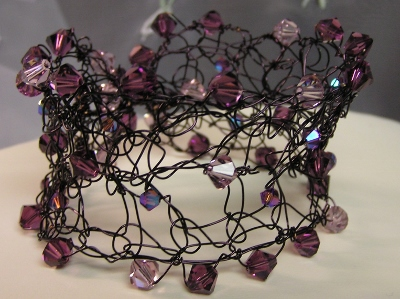 Artistic Wire and Swarovski Crystal Bracelet