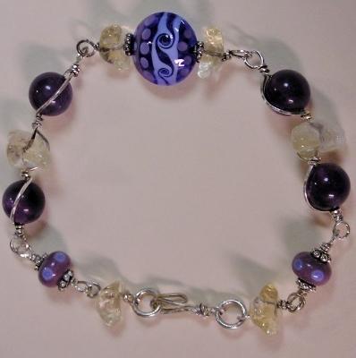 Lampwork Bracelet in Sterling