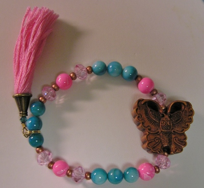 Carved Wood Butterfly Bracelet