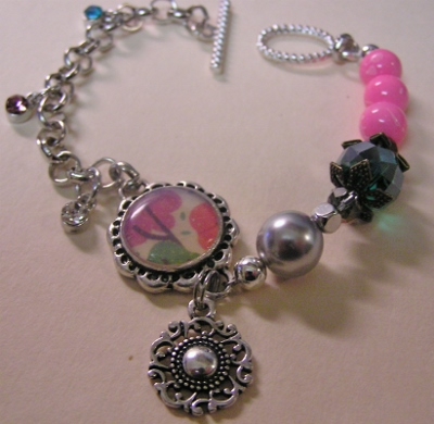 Mixed Media Charm Bracelet Too!
