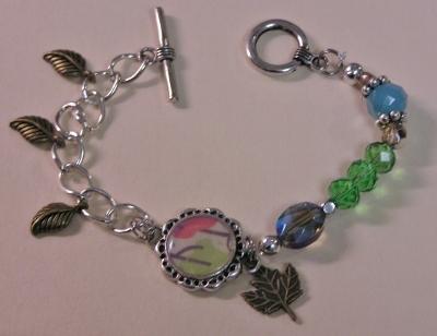 Mixed Media Charm Bracelet