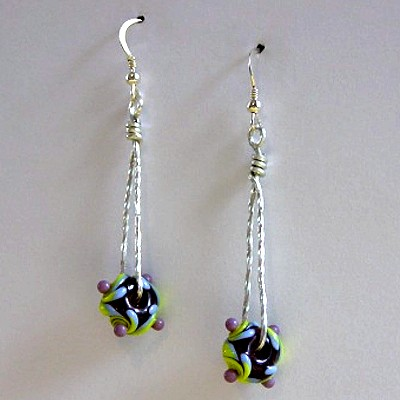 Sterling Silver Lampwork Earrings