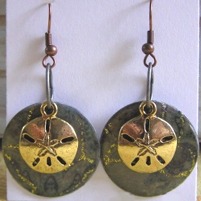 Metal Disk Earrings