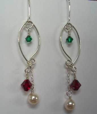 Sterling Silver Holiday Earrings