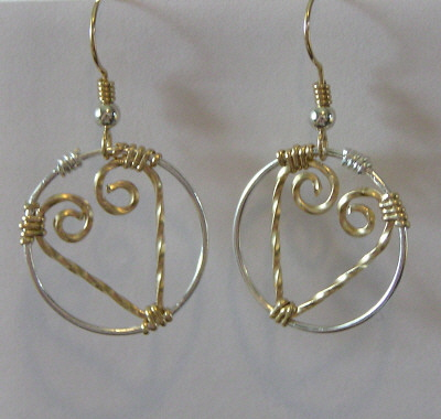 Gold and Sterling Silver Hoop Earrings