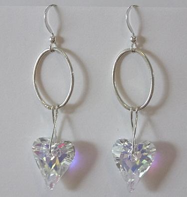 Valentine's Day Crystal Heart Earrings