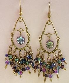 Mega Beaded Gold-Filled Chandelier Earrings