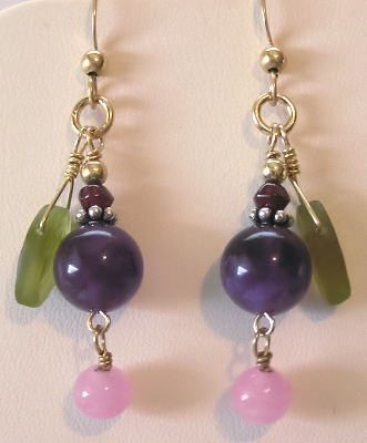 Gold-filled and Sterling Gemstone Earrings