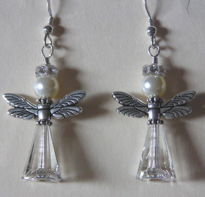 Swarosvki Crystal Angel Earrings