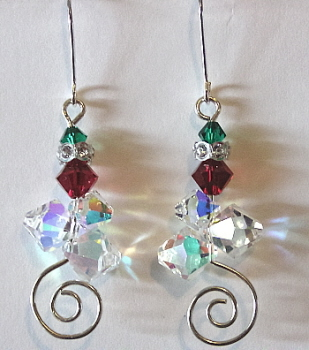 Christmas Colors - Swarovski Crystals and Sterling Silver