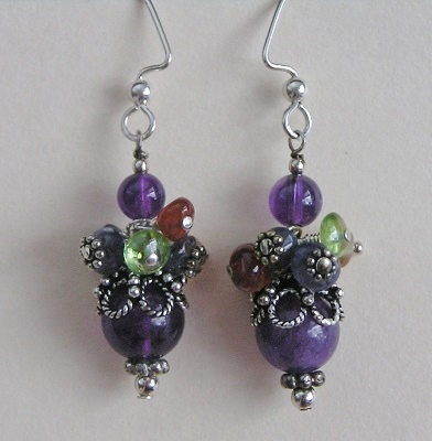 Pretty in Purple Sterling Earrings