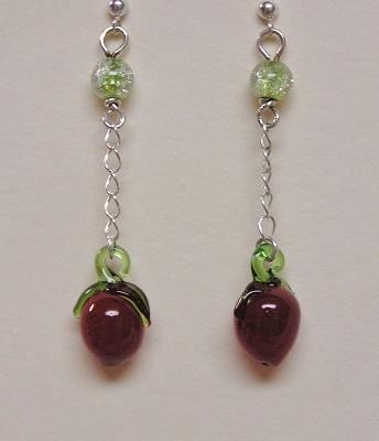 Glass Chlili Pepper Earrings
