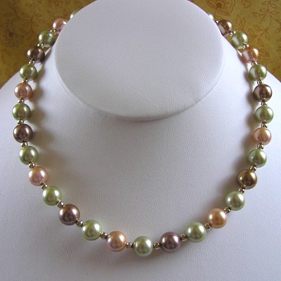 Multi-Colored Shell Pearl Necklace