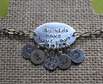 My Kids Have Four Paws Necklace