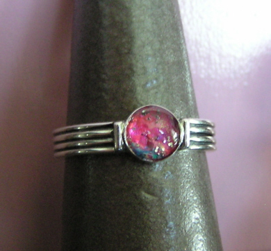 Sterling Silver Resin Ring